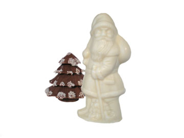 white chocolate Santa